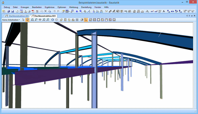 Baustatik: dachkonstruktion