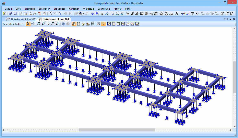 Baustatik: unterkonstruktion