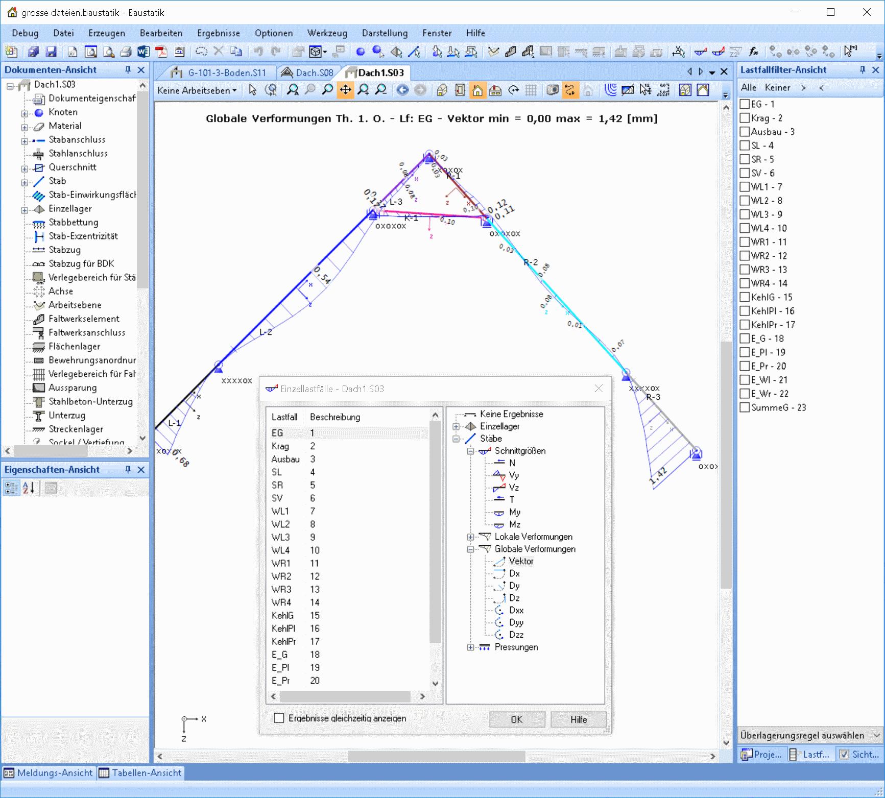 Ebener Rahmen: Dachstuhl