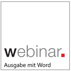 Webinar:Ausgabe mit Word